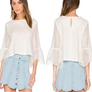 Endless Love REVOLVE Cropped Bell Sleeve Top